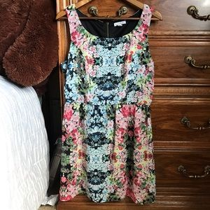 Edgy Floral Dress